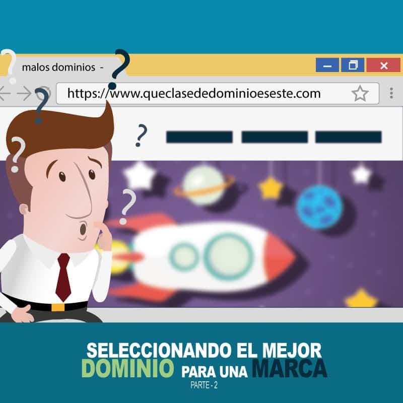 Seleccionando el dominio para un sitio web