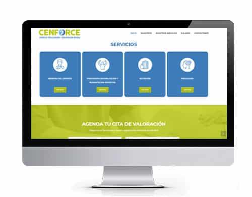 diseño-pagina-web-cenforce-portafolio Diseño de paginas web en bogotá